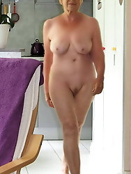 Lovely old GF is covered with cum