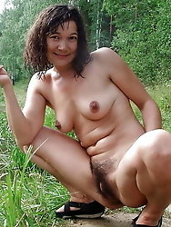 Sexy-shaped old mama is covered with jizz