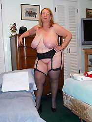Granny whore in stockings for your pleasure