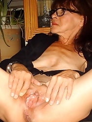 Mature M-I-L-Fs are posing nude