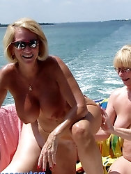 Grannys buddies Get frisky At river