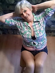 Spanish experienced grandmom loves a big boner
